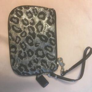 NWOT Coach Leopard Print Wristlet